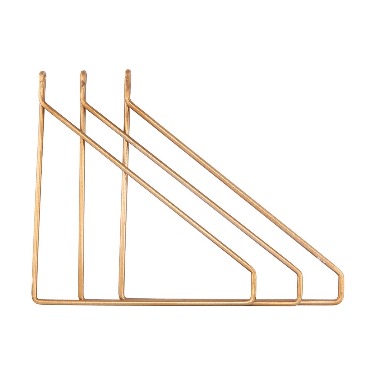 Apart Konsol 3-pack Mässingpläterad 25,5x26 cm