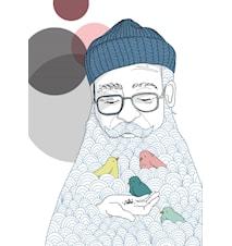 Lägg ägg i farfars skägg poster