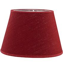 Oval Lampskärm Lin Röd 20 cm