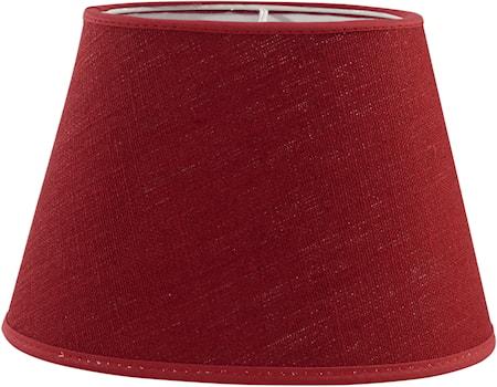 PR Home Oval Lampskärm Lin Röd 20 cm