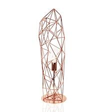 Bordlampe Diamond Statue Kobber
