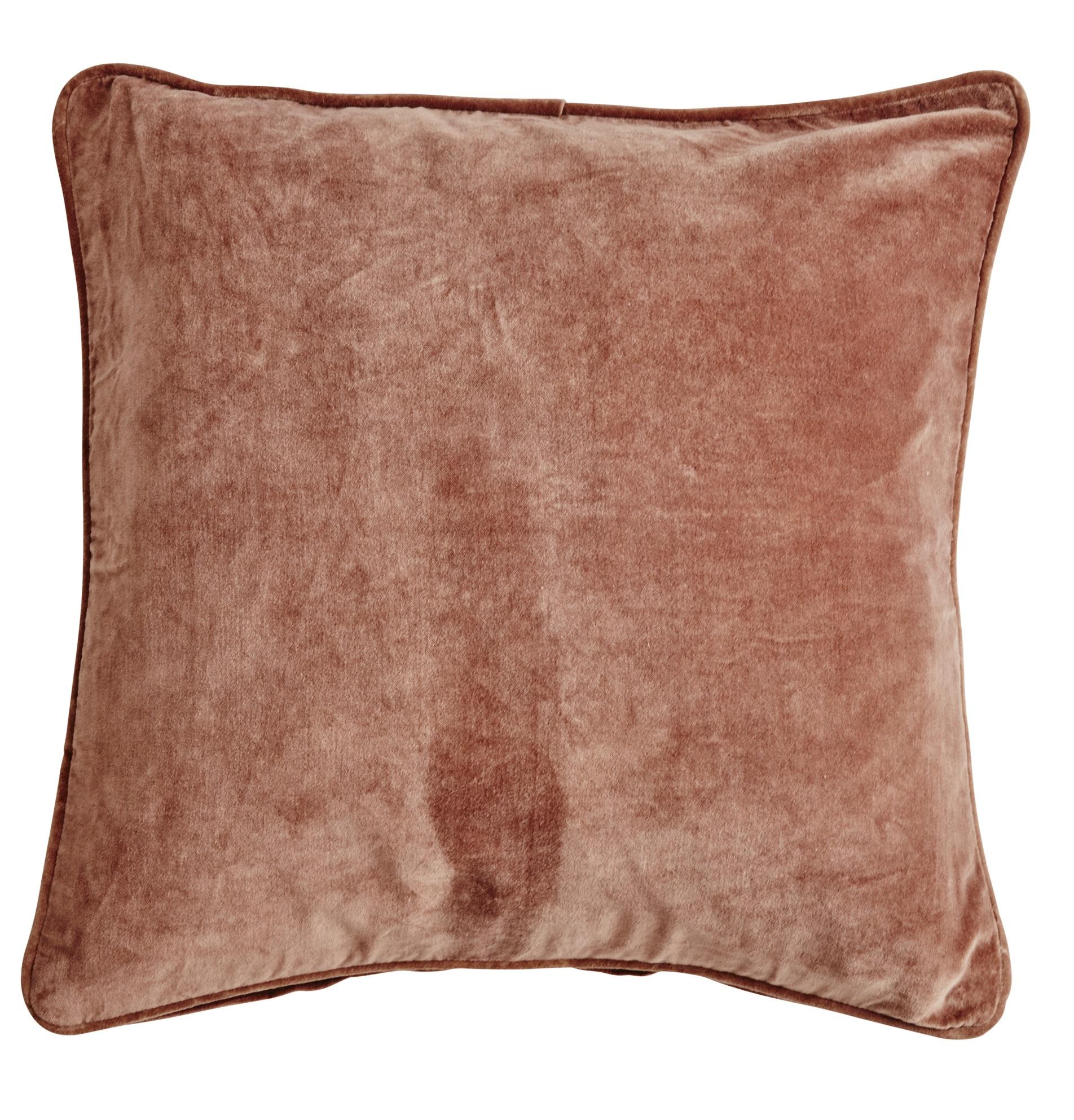 Velvet Cushion Cover Kuddfodral - Caramel