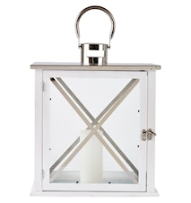 Lanterna Vit/Silver 39 cm