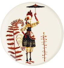 Tanssi Seinäkoriste 12 cm Kana