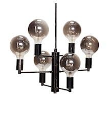 Taglampe 57xh59 cm - Røget grå