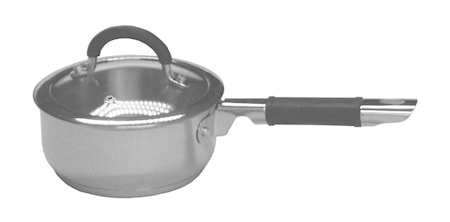 Køb Kasserolle 1 liter, indkapslet induktionsbund og silikoneklædt skaft online   KitchenTime