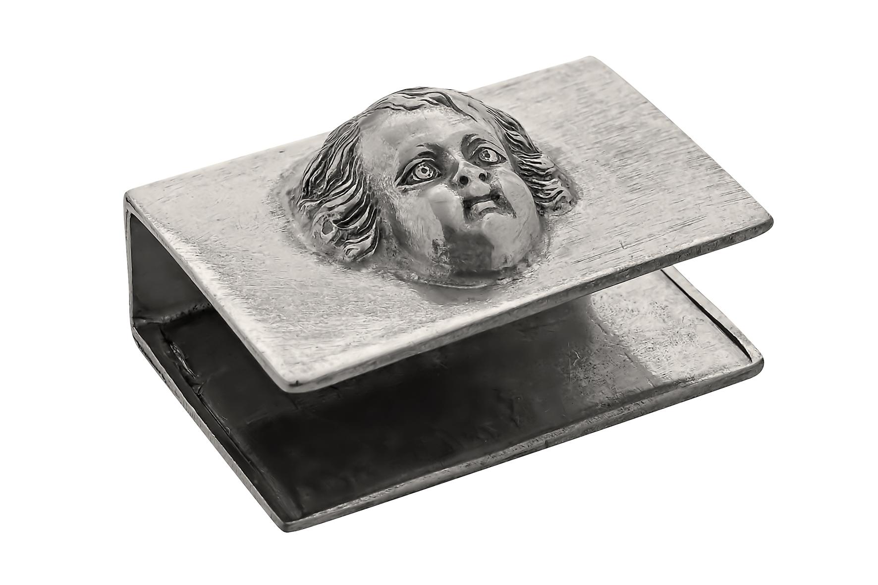 Florens, tändsticksfodral i tenn (liten ask)