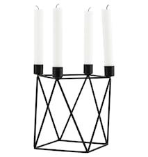 Ljushållare Triangle 22x22x20 cm - Svart