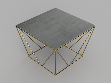 Cube soffbord mässing