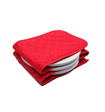 Tallriksvärmare för 3-12 tallrikar Röd