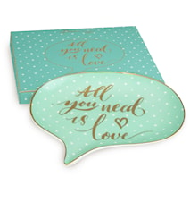 Shine Chat Plate  ALL YOU NEED IS LOVE