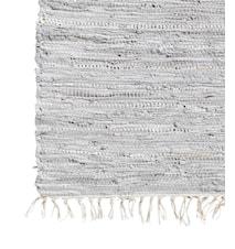 Läder matta grå - 200x250 cm