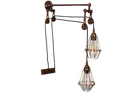 Bild av Mullan Lighting Maxum pulley vägglampa