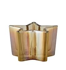 Värmeljushållare Glas Amber 6x11x11 cm