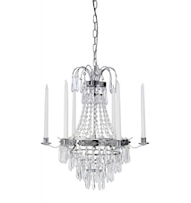 Karlberg Crystal Chandelier Chrome