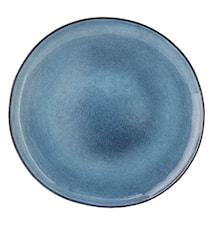 Sandrine blå 12-pack mattallrik