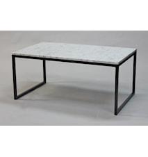 Rektangulär marmor soffbord halvkub - 100x60x45