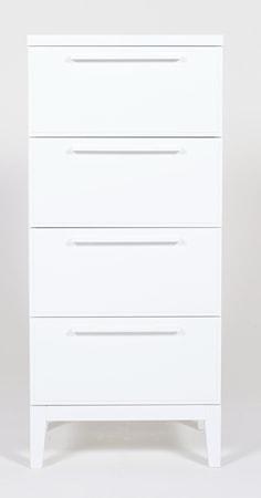 Bild av Nurmela Loft liten byrå ? 4 lådor, vit
