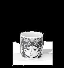 Ljuslykta, Linette, grå, H 6 cm, cylinder