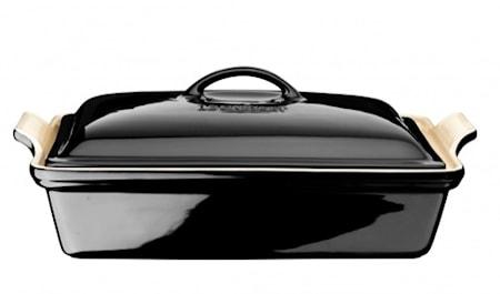 Ugnsform med lock Black 33x23 cm