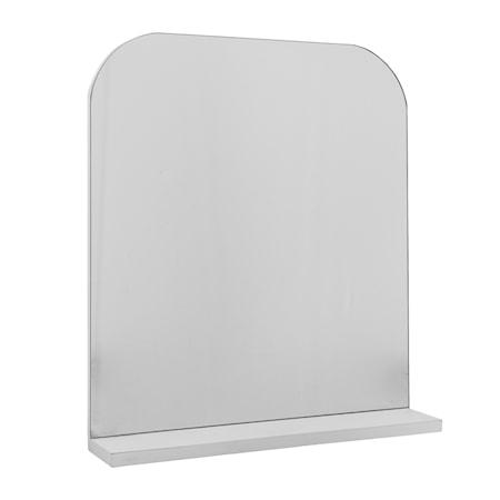 Bild av Bloomingville Spegel med Hylla Vit 55x63x11 cm