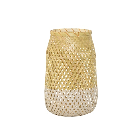 Bild av Bloomingville Lanterna m/Glas Natur Bambu 18x30cm