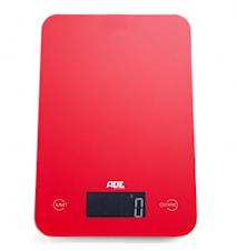 Slim Röd Digital Köksvåg