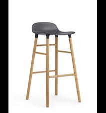 Form Barstol Blå/Ek 75 cm