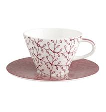 Caffe Club Floral berry Wh.Kaffekopp&Fat2 delar