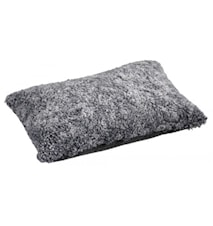 Ace Medium Kudde fårskinn/ulltyg 40x60 - Graphite/Black