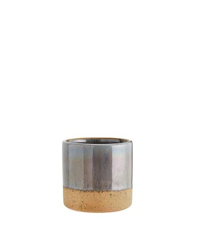 Kruka Ø 7,5 cm - Grå/natur