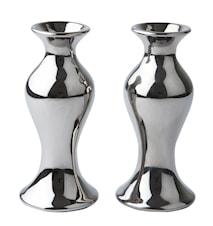 Vase Keramikk sølv 13 cm