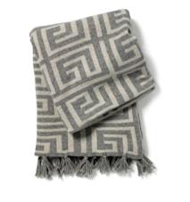 Labyrinth pledd - Titanium, 130x170 cm