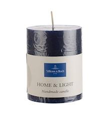 Essent.Candles Grey blue pillar 7x9cm