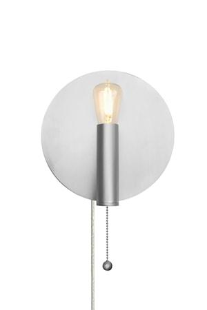 Art Deco Vegglampe Børstet Stål