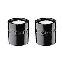 Ljuslyktor, 2-pack, 6 cm - Black