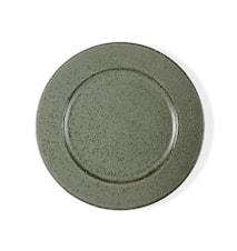 Flat tallerken Grønn Stengods Ø 27cm