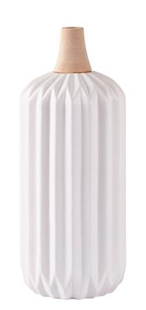Vas Keramik Vit/Natur 30cm