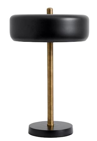 Fifties bordslampa - svart/mässing