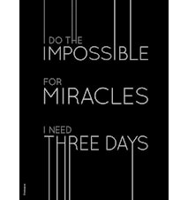 Miracles poster - Black