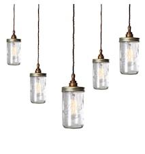Jam jar cluster taglampe