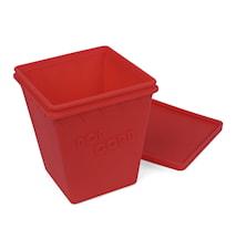 Popcorn låda, röd