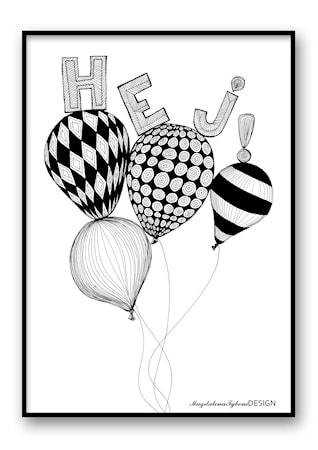 Bild av Magdalena Tyboni Design Hej poster ? 30x40