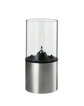 Oljelampa, klart lampglas