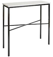 Hallbord Vit marmor/Svart med kors 100x35x90 cm