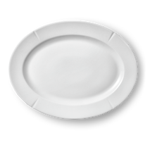 Grand Cru Oval plade 30x23 cm hvid