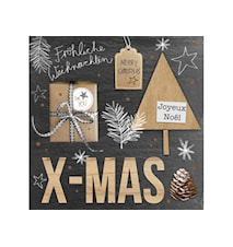 Servetter Christmast 33x33 cm 20-pack