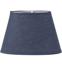 Oval Lampskärm Lin Blå 25cm