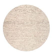 Merino rund matta - Natural beige