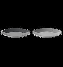 Emma tallerken, 2 stk - grå